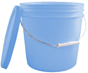 Blue Bucket with Lid - Purrrrrfect for your camp toilet!